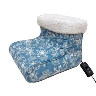 Micro Flannel® Snow Flurries Heated Footwarmer