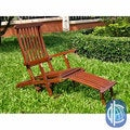 International Caravan Acacia Steamer Deck Lounge Chair