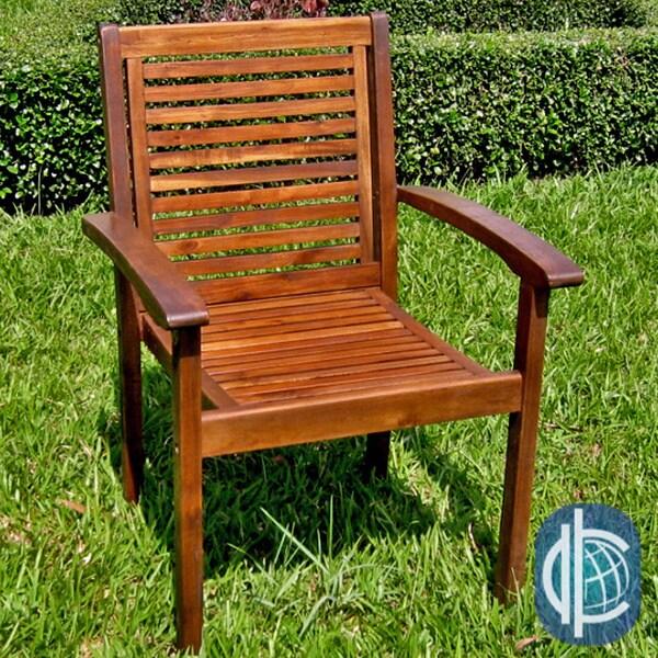International Caravan Acacia Contemporary Chairs (Set of 2)
