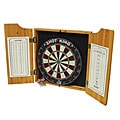 Las Vegas Bristle Dartboard Wood Cabinet Set with Two Sets of Darts