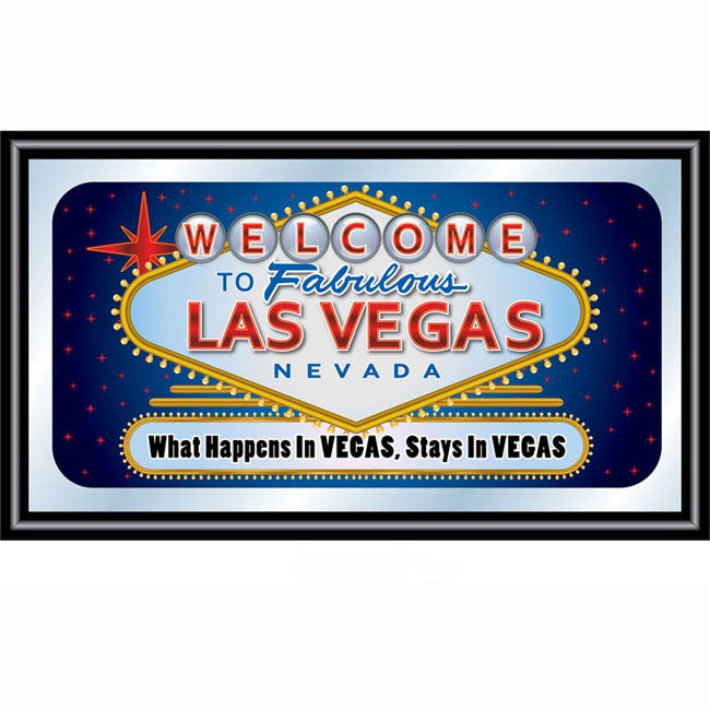 Las Vegas Wall Plaque Mirror