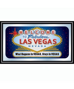 Las Vegas Wall Plaque Mirror