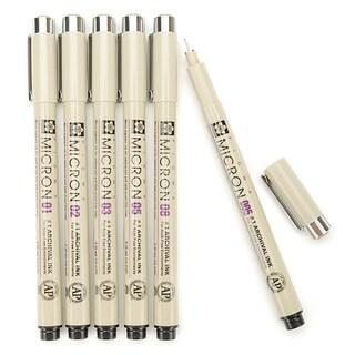 Sakura Pigma Micron Pens (Set of 6)