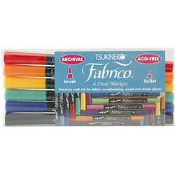 Fabrico Dual-tip Multi-purpose Markers (Set of 6)