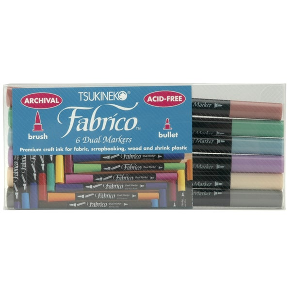 Fabrico Dual-tip Multi-purpose Marker Set (Pack of 6)