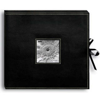 Pioneer Sewn Black Leatherette Scrapbook Box