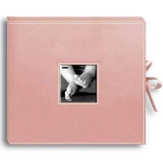 "Pioneer Pink Leatherette Baby Scrapbook (12""x12"")"