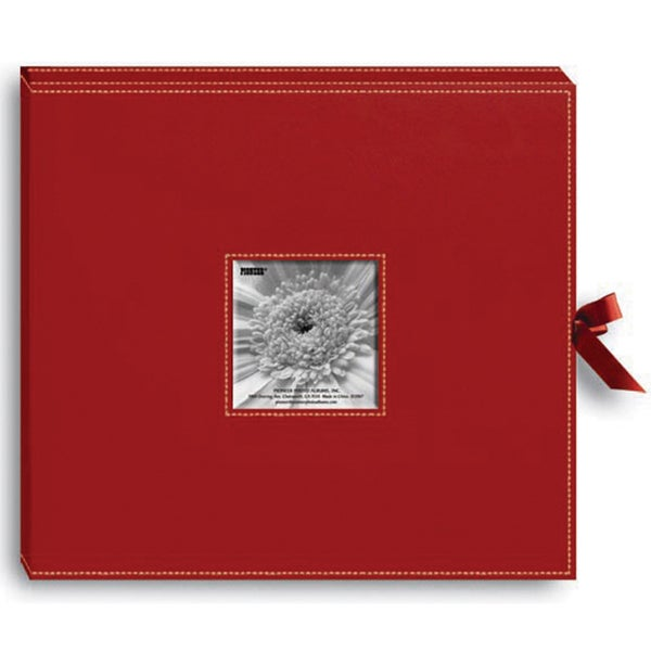 Pioneer Sewn Red Leatherette Scrapbook Box