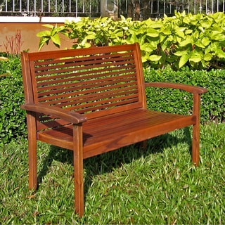 International Caravan Acacia Contemporary Bench