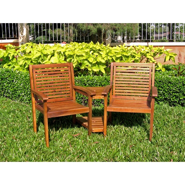 International Caravan Acacia Contemporary Double Chair