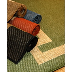 Borderline Polypropylene Area Rug (5'3 x 7'6)