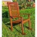 International Caravan Acacia Contemporary Style Rocking Chair
