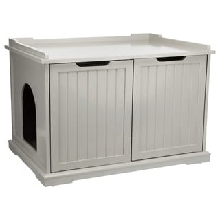 XL Wooden Litter Box Enclosure Gray