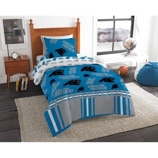 NFL 808 Carolina Panthers Twin Bed in a Bag Set