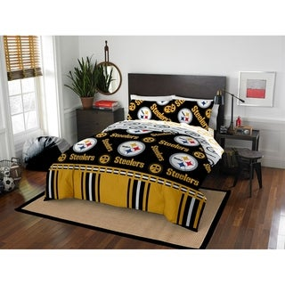 NFL 875 Pittsburgh Steelers Queen Bed in a Bag Set
