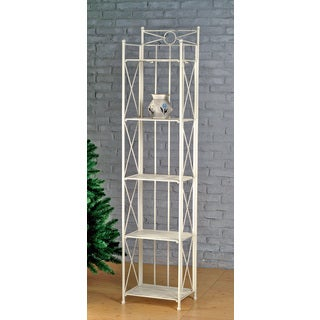 International Caravan Narrow 5-tier Iron Folding Bakers Rack