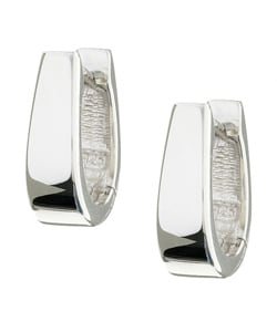 Sterling Essentials Sterling Silver U-Shaped Hinged Hoop Earrings