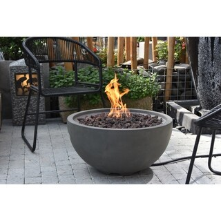 Modeno Nantucket Gray Concrete Fire Natural Gas assembly