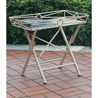 International Caravan Iron Folding Rectangular Side Table