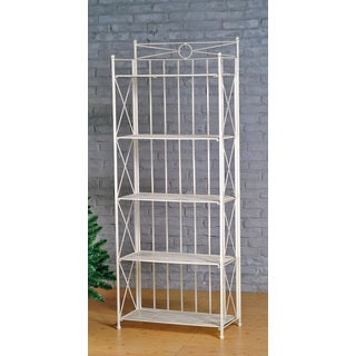 International Caravan Large 5-tier Iron Folding Bakers Rack