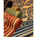 Damask Polypropylene Area Rug (5'3 x 7'6)