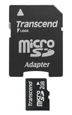 Transcend 2GB Micro SD Memory Card