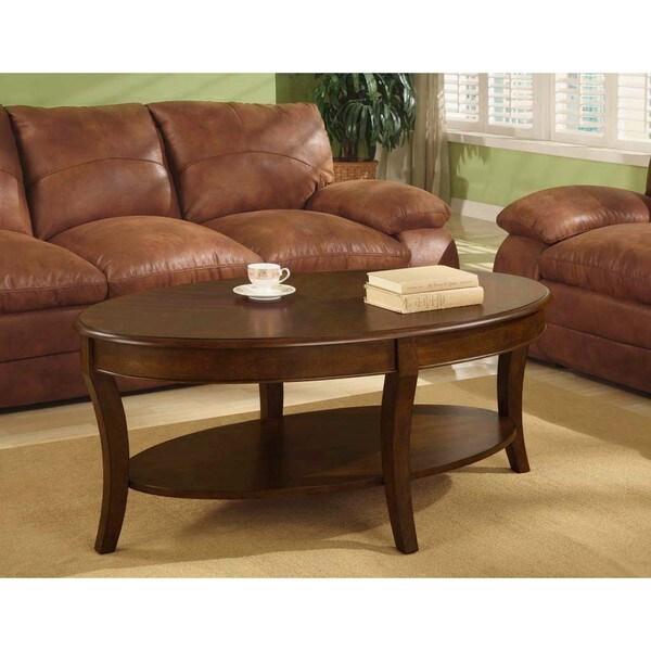 Oval Walnut Coffee Table