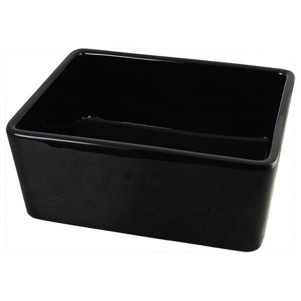 Rectangular Vessel Black Lavatory Sink