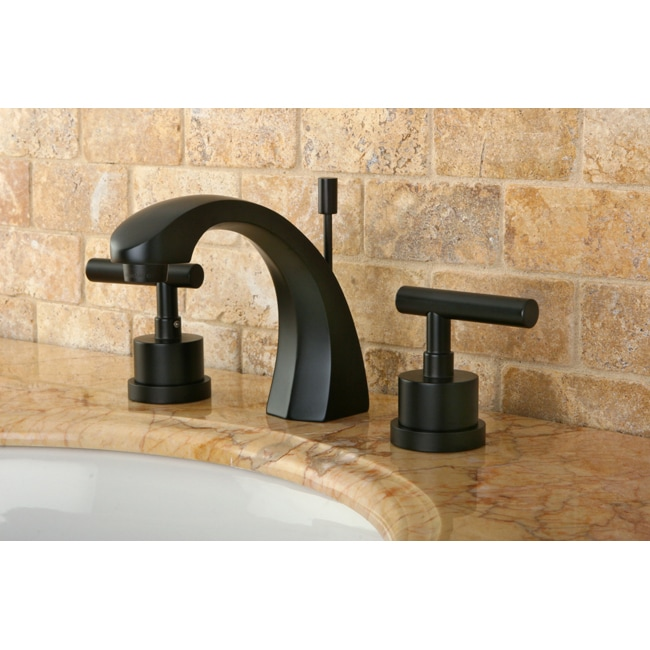 Arc Oil Rubbed Bronze Bathroom Faucet And Bathroom Accessories Set