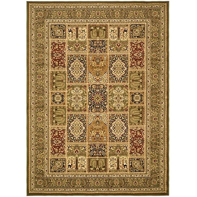Lyndhurst Collection Isfan Green/ Multi Rug (8 X 11) (GreenPattern OrientalMeasures 0.375 inch thickTip We recommend the use of a non skid pad to keep the rug in place on smooth surfaces.All rug sizes are approximate. Due to the difference of monitor co