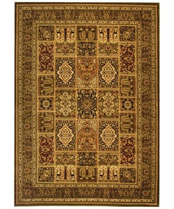 Lyndhurst Collection Isfan Green/ Multi Rug (8' x 11')