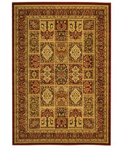 Lyndhurst Collection Isfan Red/ Multi Rug (5'3 x 7'6)