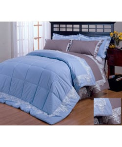 Lace-trimmed 330 Thread Count 3-piece Down Alternative Comforter Set