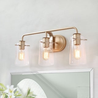 "Modern 3-lights Bathroom Vanity Lighting Golden Wall Sconce for Powder Room - L22.5""xW5.5""x H 9"""