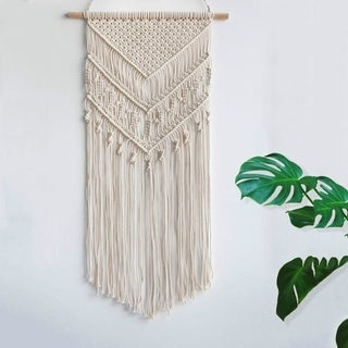 Coutlet Macrame Tapestry Wall Hanging Blanket Hand Woven Wall Tapestry Cotton Blanket Home Decoration