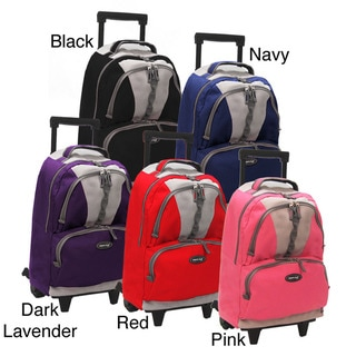 Olympia 18-inch Rolling Polyester Backpack with Retractable Handle