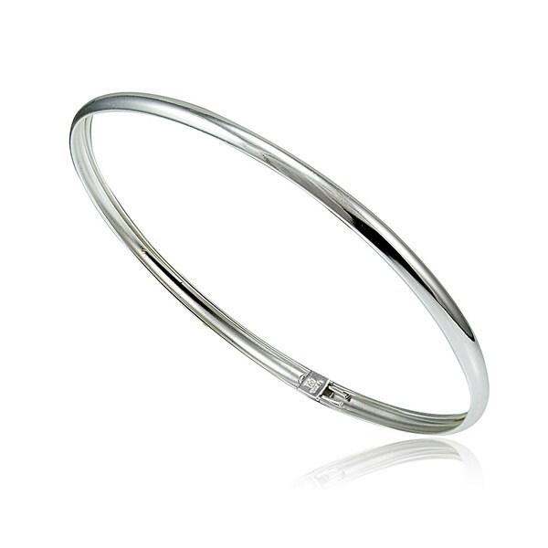 Mondevio Sterling Silver Polished Flex Bangle