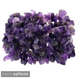 Glitzy Rocks Multi-row Gemstone Chip Stretch Bracelet