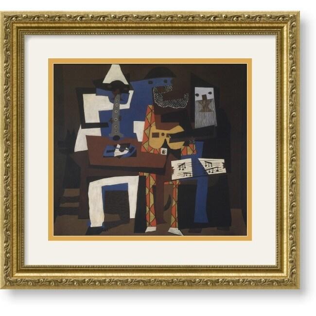 Pablo Picasso Three Musicians Framed Art Print