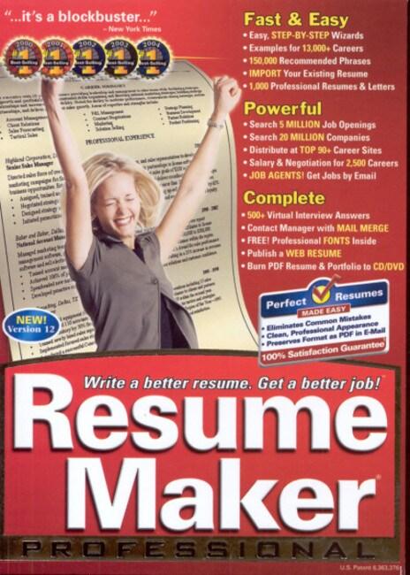 Resume maker deluxe 10 0