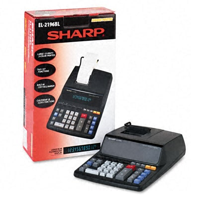 Sharp EL2196BL 2-color Drum Printing Calculator