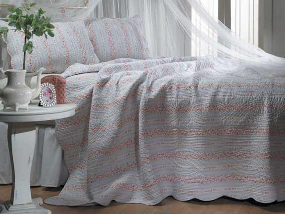 Trellis Quilted Bedspread