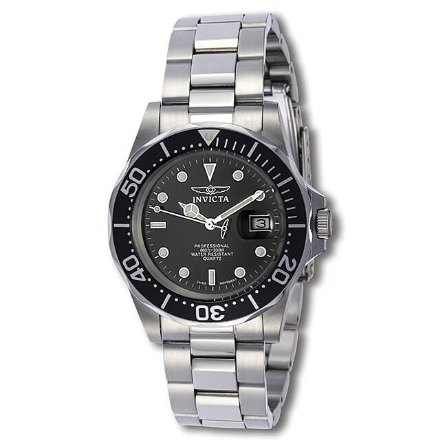 Invicta Men's Swiss Pro Diver Q 9307 Black Stainless-Steel Quartz Watch
