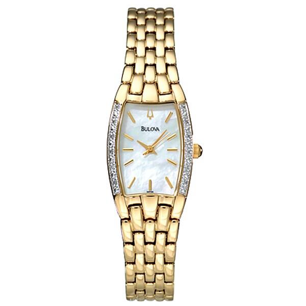 Bulova Goldtone Diamond Women's Quartz Watch