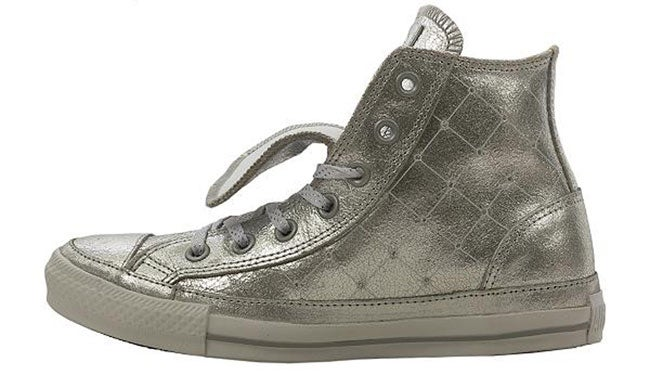 Converse Chuck Taylor Silver Hi-top Shoes