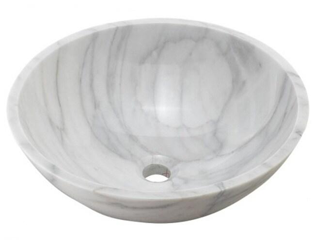 DeNovo Luna White Stone Vessel Sink Set