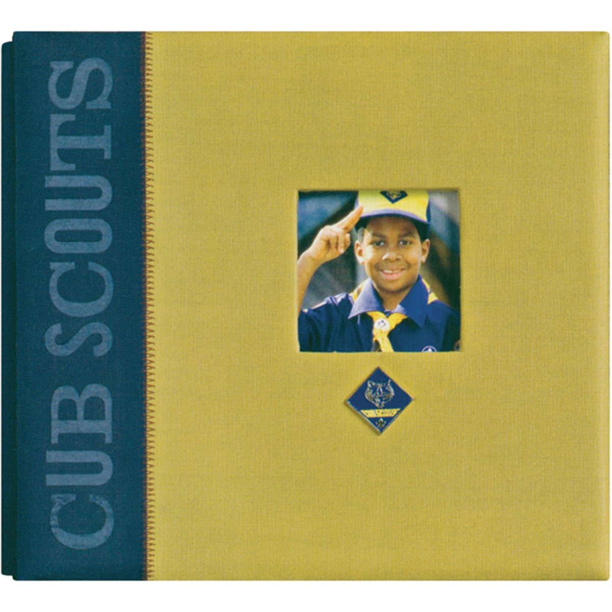 Classic Post-bound Cub Scouts Twill Scrapbook Album with Metal Emblem
