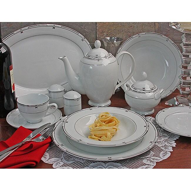 Rio Formal 49-piece Porcelain Dinnerware Set