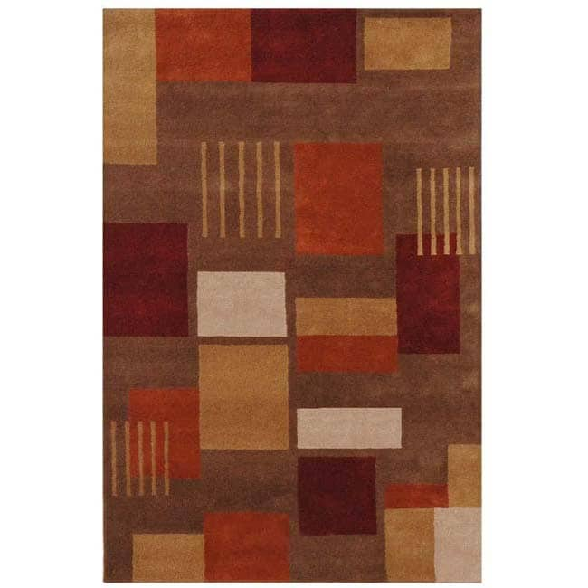 Hand-tufted Potter Wool Rug (5' x 8')