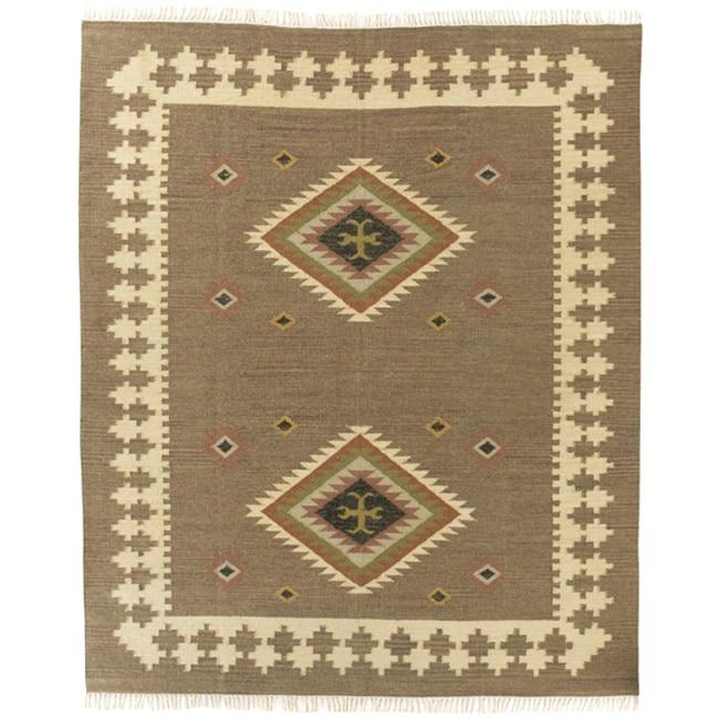 Handmade Elite Flat-woven Wool Rug (8' x 10')